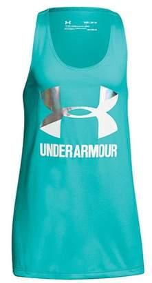 Under Armour Girl's Big Logo Slash Tank