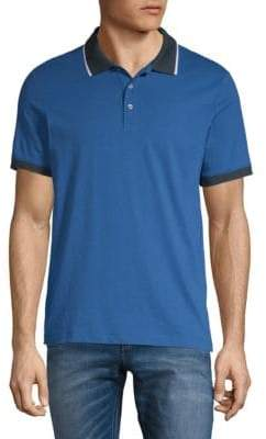 Perry Ellis Contrast Polo Shirt
