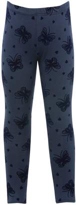 M&Co Heart and butterfly flocked leggings