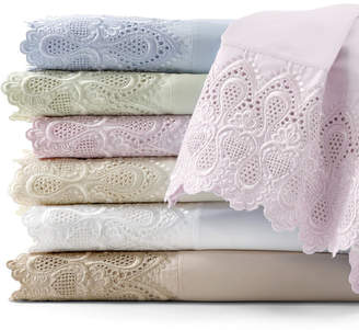 Asstd National Brand 600tc Easy Care Set of 2 Lace Pillowcases