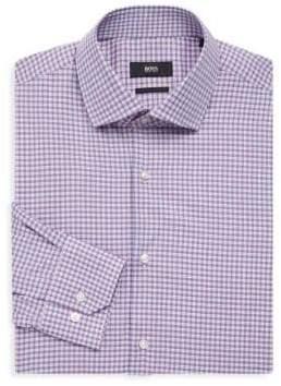 BOSS Regular-Fit Plaid Dress Shirt