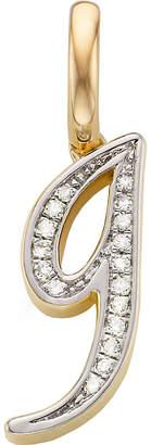 Monica Vinader 18ct yellow-gold vermeil and diamond alphabet pendant g