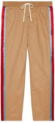 Gucci Cotton drill pant with acetate stripe