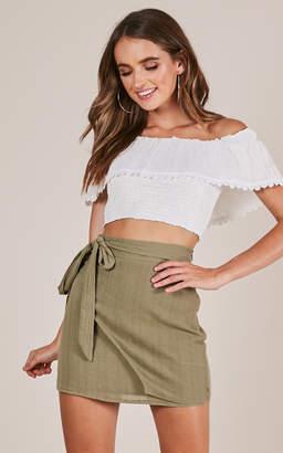 Showpo Casual Fridays Skirt in khaki