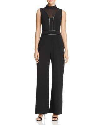 b0737a58911 Adelyn Rae Women s Gayle Woven Mock Neck Jumpsuit