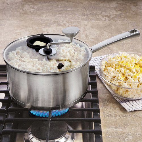 Zippy Pop Stainless-Steel Stovetop Popcorn Kettle