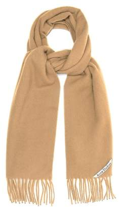 Acne Studios Canada Narrow Wool Scarf - Womens - Camel