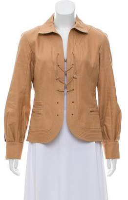 Louis Vuitton Laced Pointed Collar Jacket