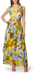 Tahari Print Jacquard Maxi Dress