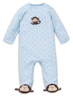 Little Me Boys' Monkey Star Footie - Baby