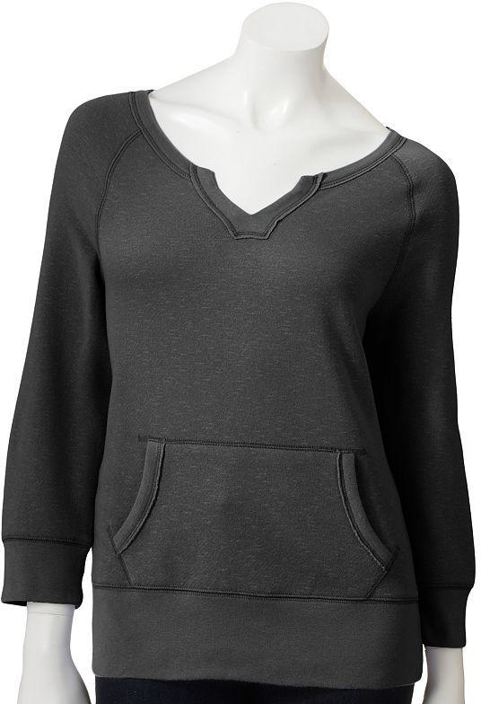 Sonoma life + style french terry sweatshirt