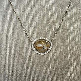 Rocks With Soul Rutilated Quartz And Diamond Pendant Necklace