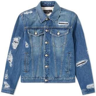 Alexander McQueen Distressed Denim Jacket