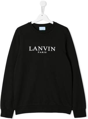 Lanvin Enfant TEEN logo print sweatshirt