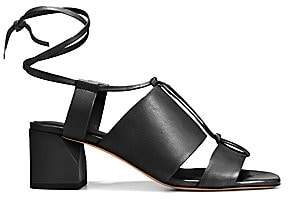 Vince Women's Dunaway Cutout Leather Ankle Tie Slingback Sandals