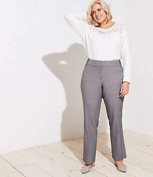 LOFT Plus Trousers in Buttoned Belt Loop