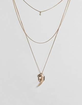 Asos Coin & Charm Multirow Necklace