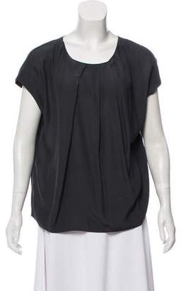 Marni Pleated Short Sleeve Top
