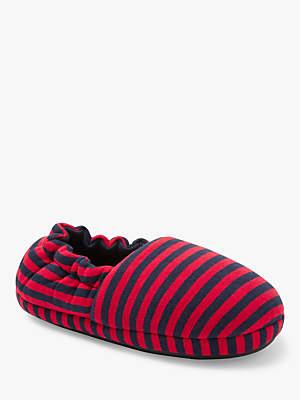 John Lewis & Partners Children's Jersey Stripe Slippers, Multi