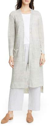 Eileen Fisher Maxi Organic Linen Cardigan