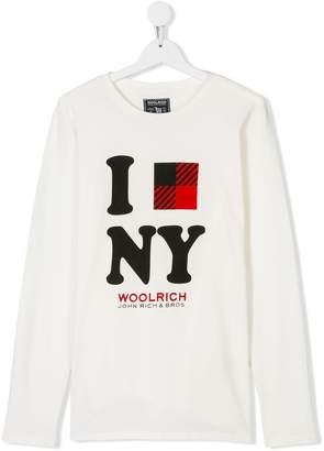 Woolrich Kids TEEN NY printed T-shirt