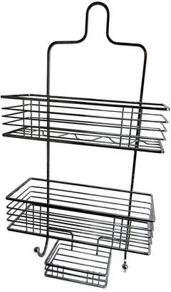 Elegant Home Fashions Chrome Shower Caddy with Soap Tray Bedding