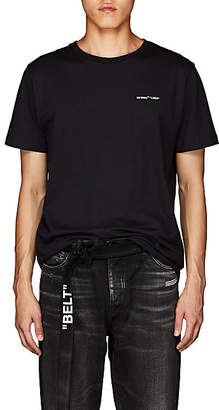 "Off-White Men's ""Logo"" Jersey T-Shirt - Black"