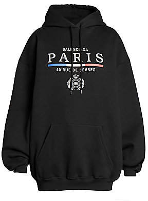 Balenciaga Women's Paris Logo Hoodie
