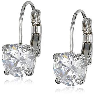"Cole Haan CZ Basics"" Cubic Zirconia Lever Back Silver Tone Drop Earrings"