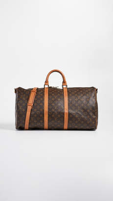 Louis Vuitton What Goes Around Comes Around Heritage Monogram Keepall 55 Bag