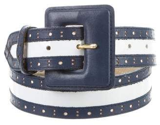 Christian Dior Perforated Leather Belt