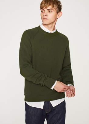 Paul Smith Men's Khaki Merino Wool Raglan Sleeve Sweater