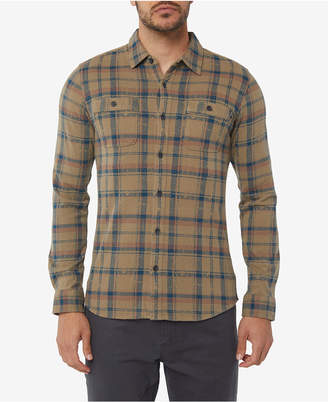 O'Neill Men's Fisher Knoven Modern-Fit Plaid Shirt