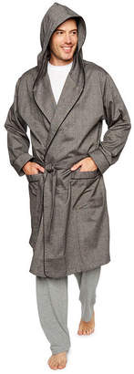 STAFFORD Stafford Men's Flannel Hooded Robe - Big