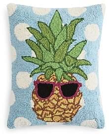 Peking Handicraft Polka-Dot & Pineapple Decorative Pillow, 18 x 18 - 100% Exclusive
