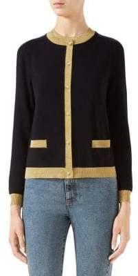 Gucci Women's Cashmere& Silk Cardigan - Black - Size XS