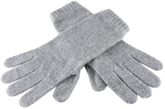 Black Ladies Grey Cashmere Gloves