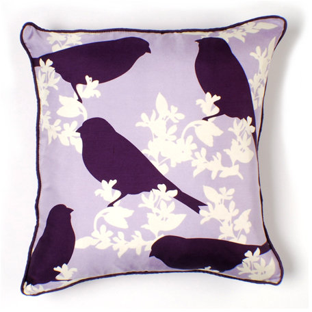 Thomas Paul Goldfinch in Plum Luxe Silk Pillow
