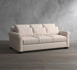 Pottery Barn York Roll Arm Deep Seat Upholstered Sofa