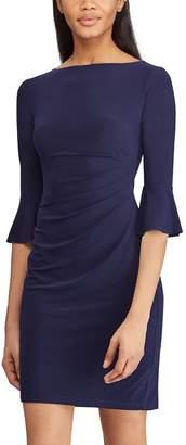 Chaps Women's Jersey Bell-Sleeve Sheath Dress