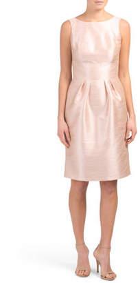 Bow Back Dupioni Dress