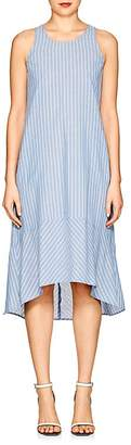 Barneys New York WOMEN'S STRIPED CHAMBRAY DROP-WAIST DRESS