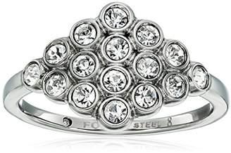 Fossil Vintage Glitz Diamond-Shaped -Tone Ring