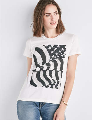Lucky Brand FLAG ROUCHE BACK TEE