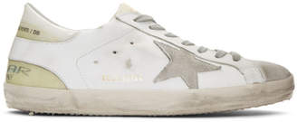 Golden Goose White See-Through Superstar Sneakers