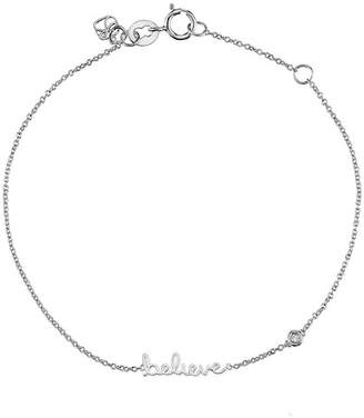 Sydney Evan Syd by Sterling Silver Diamond 'Believe' Bracelet - 0.015 ctw