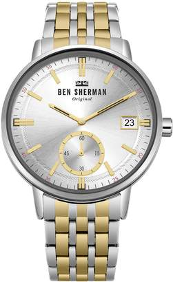 Ben Sherman Men's 'Portobello Professional' Quartz Silver-Tone and Stainless Steel Casual WatchMulti Color (Model: WB071GSM)