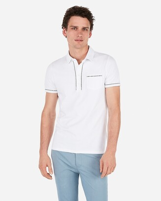 Express Piped Moisture-Wicking Performance Polo