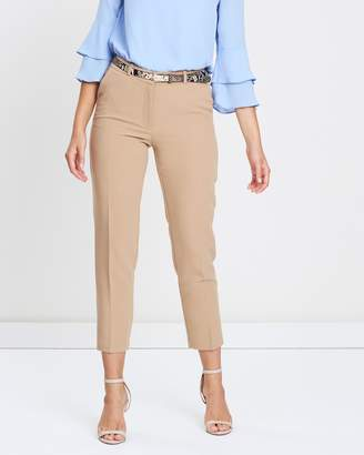 Wallis Snake Print Belt Trousers