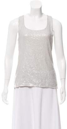 Alice + Olivia Sleeveless Sequenced Top